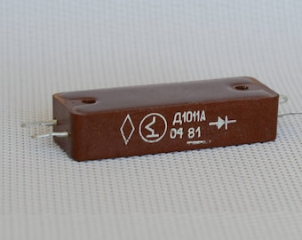 Diode, Rectifying diode, Retro electronics, Soviet electronics, electronic parts, radio parts, electronic supply, electronic decor.