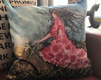 Fine Art Pillow: Shelby