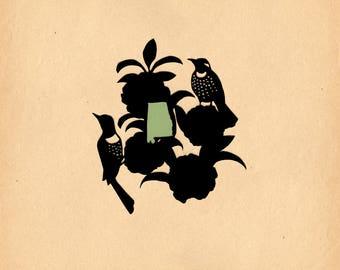 Alabama State Bird & Flower - Print of Original Papercut