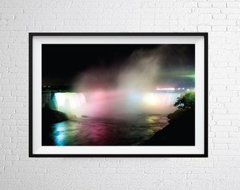 Niagara Falls Wall Art Print / Waterfall Print / Waterfall Poster / Photographic Print / Fine Art Photography