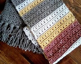 Rustic Crochet Scarf Pattern
