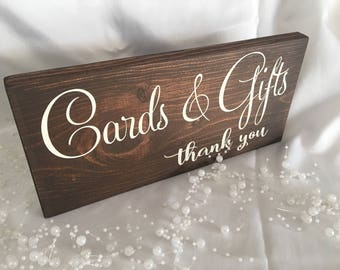 Cards and Gifts Sign - Sign for Wedding Gift Table - Gift Table Sign for Wedding - Cards and Gifts Wedding Sign - Wedding Sign - Wedding