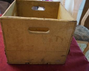 Vintage 1950's Wood Milk Crate