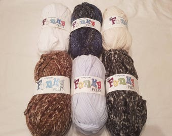 King Cole Funky Felt 100g Ball of Yarn