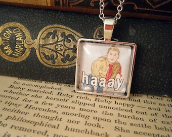 """Pendant Necklace/Keyring """"Haaay"""" - Meme Jewelry, Meme Gifts, Dank Memes, Funny Gifts, Internet Gifts, Vintage, Scouting"""