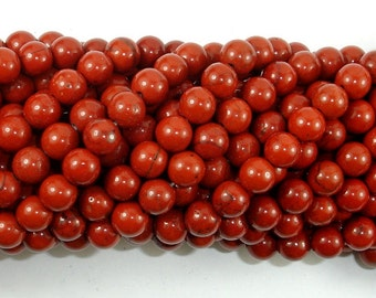 Red Jasper Beads, 6mm (6.8mm) Round Beads, 15.5 Inch, Full strand, Approx 59 beads, Hole 1 mm (371054009)