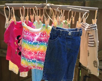 Clothes Drying Rack for RV Camping/Hunting, Traveling with New Baby, Gift for the New RV owner. Dry Towels when swimming, Handmade. USA