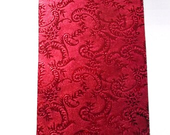 Ribbon bolduc gifts x 2 meters embossed red shiny REF. 114