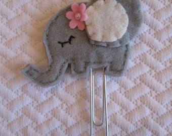 Elephant clip - Planner accessories - Felt paper clip - Planner clip - Bookmark - Planner goodies