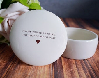Mother of the Groom Gift, Mother-in-Law Gift - Keepsake Box - Thank you for raising the man of my dreams - With Gift Box