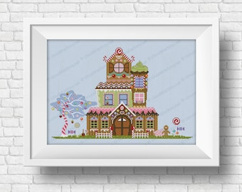 Gingerbread House - PDF cross stitch pattern