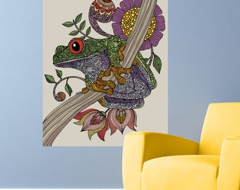 Frog Animal Art Wall Sticker Decal – Phileus by Valentina Harper