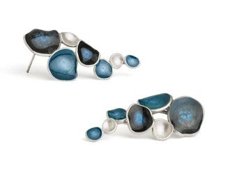 Blue Earings : Handmade blue earrings by oBo Creations
