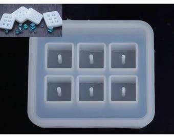 Moule en silicone 6 cubes 16mm pour créations fimo résine