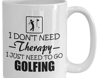 Golf coffee mug, golfer mug, golf gift, golfer gift, need to go golfing mug - gift for golfer, cup/decal for golfer, dad mugâ