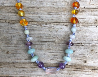 Delphine - Baltic Amber teething necklace