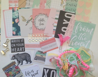 Gather ATC Pocket Letter Kit- Planners, Pen Pals, Stationary, Embellishments, Journaling Cards