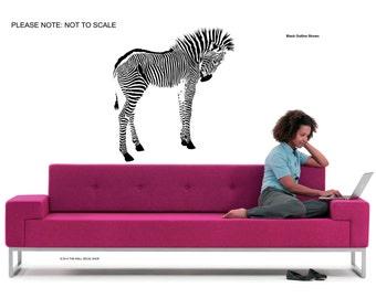 Zebra - Wall Art Sticker Decal