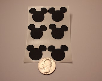 6 Mickey Mouse Cut-Out Stickers (1 inch)