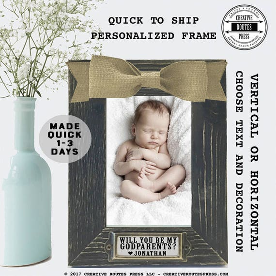 Will you be my Godparents Frame QUICK TO SHIP- Will you be my ...