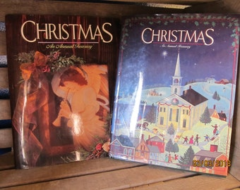 2 Vintage Books- Christmas An Annual Treasury-Augsburg Minneapolis-1995 & 1997 Volumes 65 67