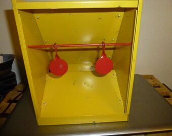 Vintage Pellet Gun Carnival Shooting Gallery Targets - 2 rings and 2 ducks on  Steel Pellet Trap - Fun form indoors or out