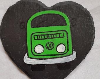 VW Inspired Campervan  Slate Coaster