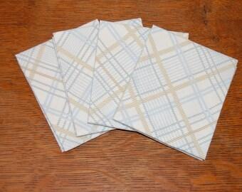 "SALE 4for4! Diamond plaid reclaimed Bed Sheet FQ | Fat Quarter 18"" x 22"" pre-cut"