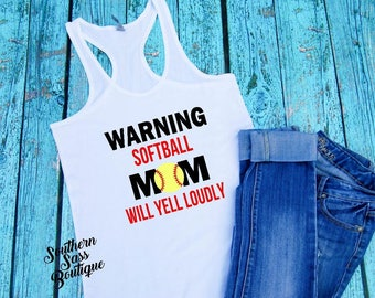 Softball mom, Baseball mom, Softball tank, Baseball tank, Ballpark shirt, Sports mom, Mom tank, Softball life, Baseball life, Workout tank