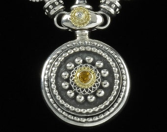 Sundial Necklace, B.C. Silver Collection, 6101SGCD