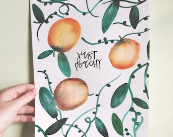 Just Peachy Watercolor Design