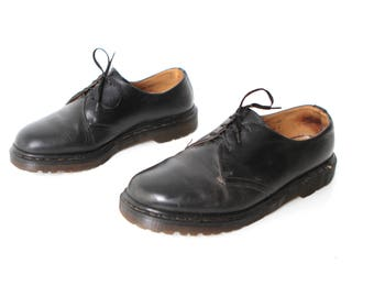 mens size 9 DOC MARTEN black leather 90s ANKLE boots made in england