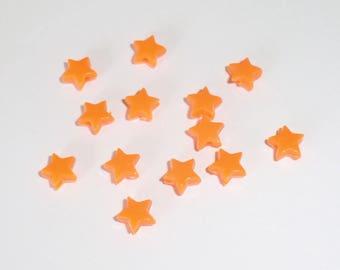 20 x beads 5mm Orange stars