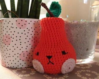 Cute crochet PEAR vitamins