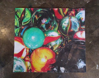 Colored Pencil Photographic Marble Drawing