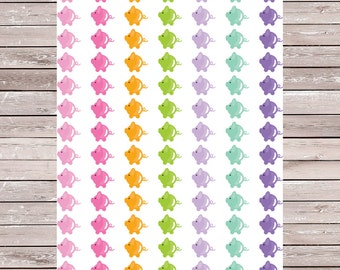 Set of 91 Multicolored Piggybank Stickers Savings Erin Condren Planner Stickers, ECLP, Filofax, Kikki K, Mambi Happy Planner
