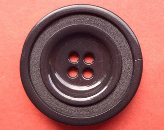 8 dark brown buttons 23mm (1653) button Brown