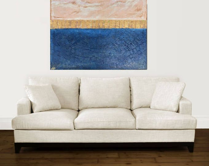 "large abstract painting ""custom"" painting original art contemporary modern art blue painting huge painting on canvas"