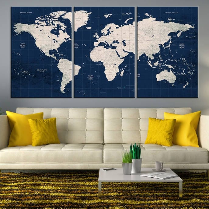 Large world map world map wall art world map push pin world map gallery photo gallery photo gallery photo gumiabroncs Choice Image