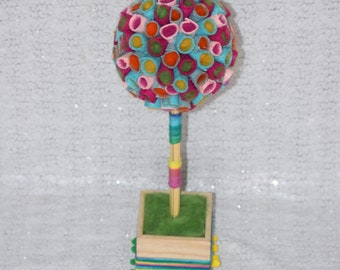 Felt Rainbow Birthday, Topiary Center Piece, Party Decoration