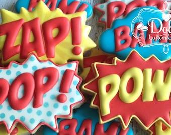 Super Hero Super Hero Burst Cookies