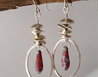 Cairn Earrings with Natural Stone