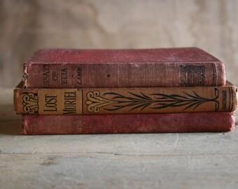 "50% OFF: Antique Book Bundle ""for Girls"" (c.1900 - 1912 - 1920)"