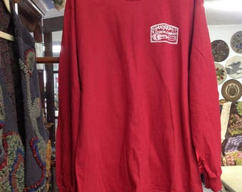 W. Cushing and Co.Long Sleeve Cardinal, 100% cotton In M to XXL