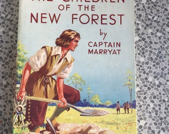 Vintage book The Children of the New Forest by Captain Marryat