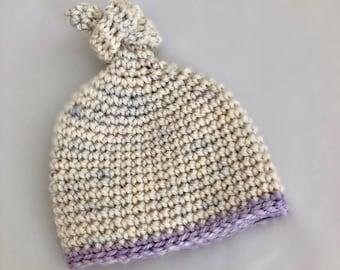 Crochet Newborn Knot Beanie
