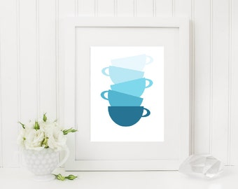 Stacked Teacup Print