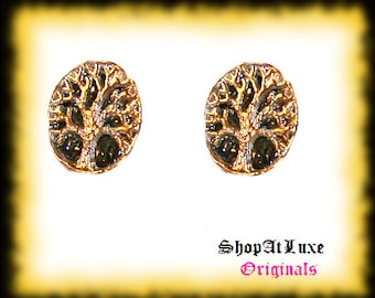 Silver Tree Of Life Post Earrings