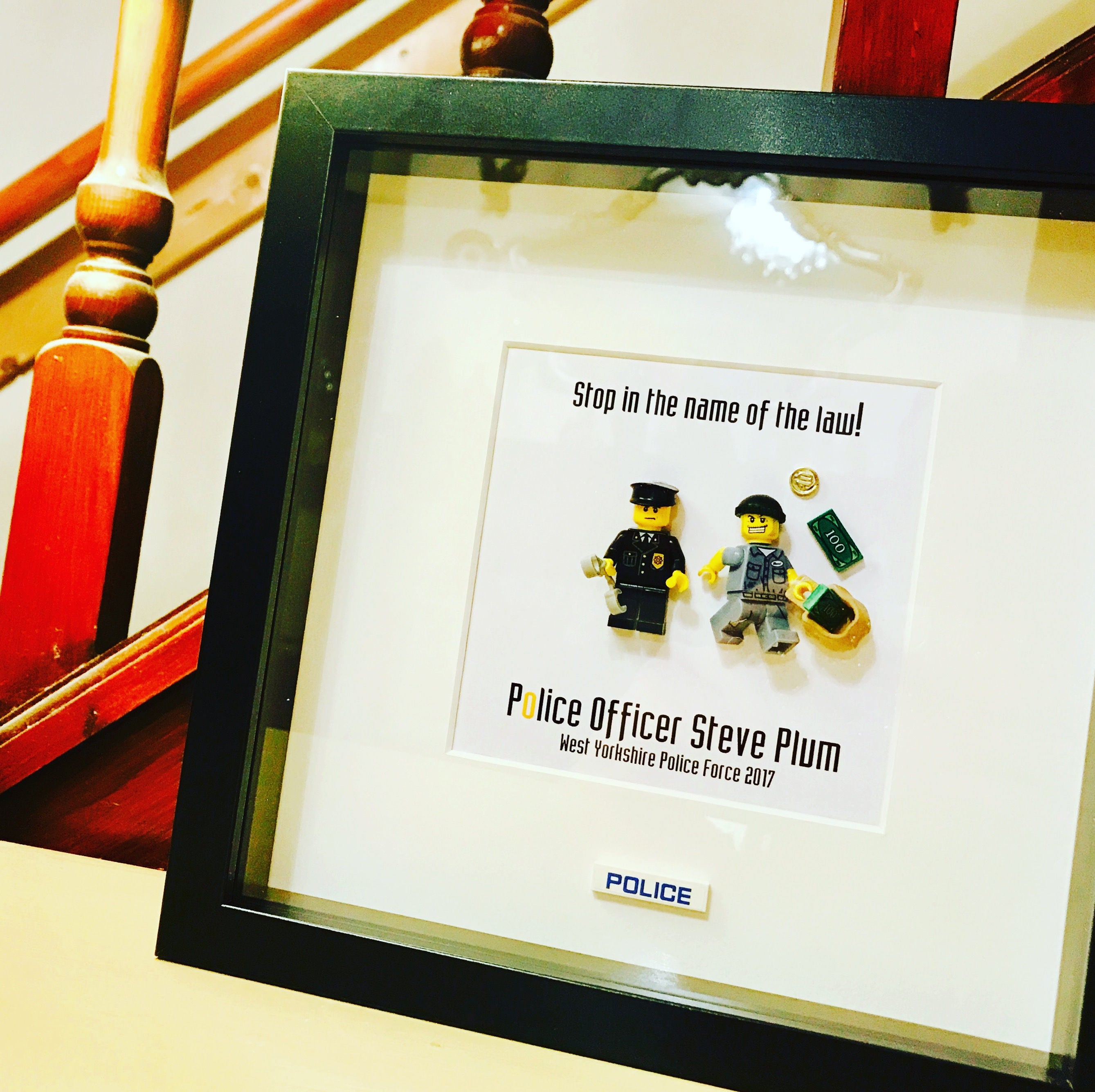 Police Officer Gift Personalised Lego® Frame