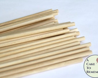 "50 wooden dowels for cake decorating, 12"" x 1/4"" wood